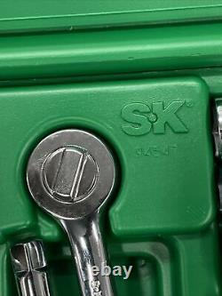 SK Tools 6 point 3/8 drive chrome socket wrench SAE/Metric 47pc NEW