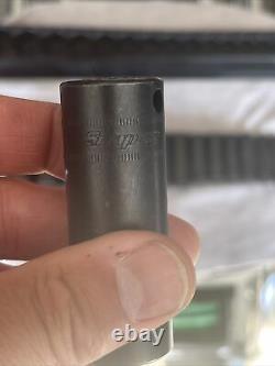 SNAP ON 14 pc 3/8 Flank Drive 6-Point Metric Deep Impact Socket Set 214SIMFMYA