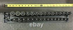 SNAP ON 30-Piece 1/2 Drive 6-Point Shallow & Deep Impact Socket Set (10-24 mm)