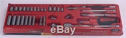 SNAP ON 34 pc 1/4 Drive 6-Point SAE Shallowith Deep General Service Socket Set