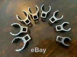 SNAP ON SNAP-ON 8 pc 3/8 Drive 12-Point SAE Flank Drive Deep Flare Nut SET