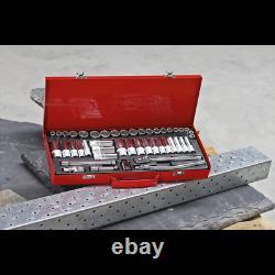 Sealey AK692 3/8 Drive Socket Set Metric Imperial 6 Six Point Std & Deep Tool