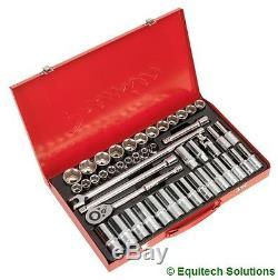Sealey Tools AK6941 1/2 Drive Socket Set Metric 6 Six Point Std & Deep 46 Piece