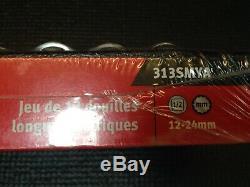 Snap-On 1/2 Drive 13 Piece 12 Point Deep Socket Set Brand New 12-24mm 313SMYA