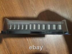 Snap-On 12 pc 1/4 Drive 6-Point Flank Drive Semi-Deep Metric Socket Set(515)