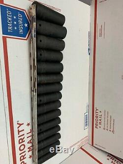 Snap On 15pc 1/2 Drive 6-Point Deep Metric Impact Socket Set 315SIMMYA 10-24m