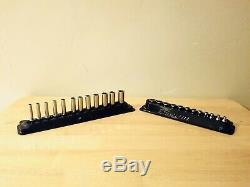 Snap-On 24 pc 1/4 6-Point Metric Flank Drive ShallowithDeep Socket Set (124STTMM)