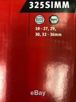 Snap-On 25 Piece 1/2 Drive 6-Point Metric Deep Impact Socket Set 325SIMM
