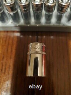 Snap On 26 Pc 1/4 Drive Deep & Semi Deep 6 Point Socket Set STMM & TMM USA