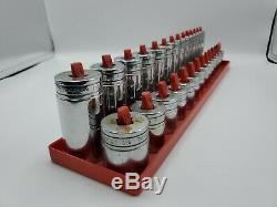 Snap-On 28 pc 1/2 Drive 6-Point Deep And 12-Point Shallow Socket Set