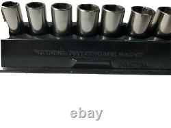Snap-On 3/8 12 Piece Metric Flank Drive Semi Deep Socket Set 6 Point 8 19mm