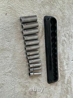 Snap On 3/8 Drive Deep Socket Set, 6 Point, Metric8-19mm