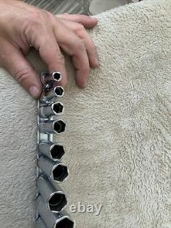 Snap On 3/8 Drive Deep Socket Set, Sae, 6 Point