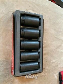 Snap On 305simmy, 5 Pc Metric Deep Impact Socket Set, 1/2 Drive, 6 Point