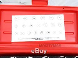 Snap On Metric Deep Well Socket Set 21 Piece 3/8 Drive 6 point Chrome USA Made
