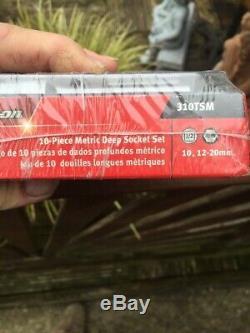 Snap On Tools 1/2 6-Point Flank Drive Deep Sockets 10, 12-20mm 310TSM BNIB