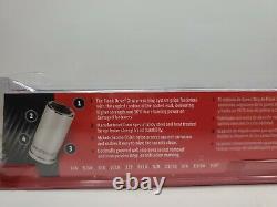Snap On Tools 11 Pc 3/8 Drive 6-Point SAE FDX Semi-Deep Socket Set 211YFSSY NEW