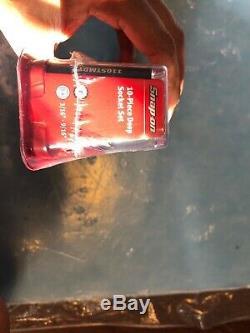Snap On Tools 110STMY 10-Piece 1/4 Drive 3/16-9/16 12-Point Deep Socket Set