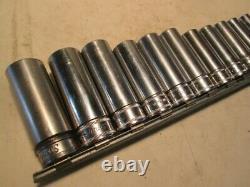Snap-On Tools 12 Piece 3/8 Drive 6 Point Deep Metric Socket Set