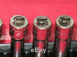Snap On Tools 12 Piece Metric 1/4 Drive 6 Point Deep Socket Set + Magnetic Tray