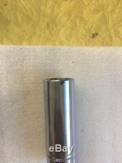 Snap On Tools 12pc 3/8 Drive 6 Point Deep Metric Socket Set 8-19mm 212SFSMY