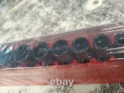 Snap On Tools 3/8 Drive 6 Point Flank Semi Deep Impact Socket Set 210imfsya New