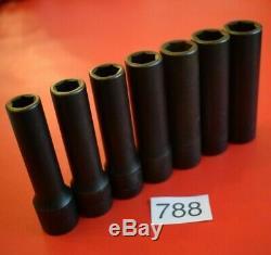 Snap On Tools UNUSED 7pc 1/2 Drive 6-Point Deep Impact Socket Set rrp£169 (788)