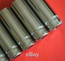 Snap On Tools UNUSED 9pc 3/8 Drive 6-Point Deep Socket Set rrp £175 (665)