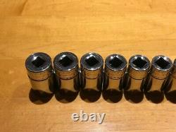 Snap-on 12 Piece 3/8 Drive 6-Point Metric Semi-Deep Socket Set 8-19mm 212FSMSY