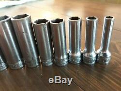 Snap on 211SFSY 11 Piece SAE Deep Well Socket Set 3/8 Drive, 1/4 to 7/8, 6 Point