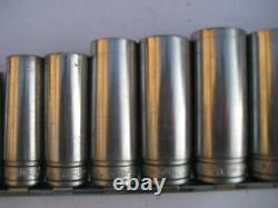 Snap on 3/8 Drive SAE 6 point Deep Socket Set 13 pieces Free Shipping