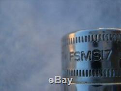 Snap-on Metric 3/8 Drive 8mm-19mm Semi Deep Socket Set 6 point 12 piece FSMS
