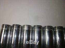 Snap-on SM 9 Pc 1/2 Drive 24-32 mm Metric Deep 12 Point Chrome Socket Set U. S. A