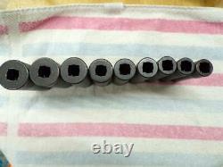 Snap-on Tools 6 Point Deep Impact Socket Set 309SIMYA 1/2 Drive 9 Pieces New