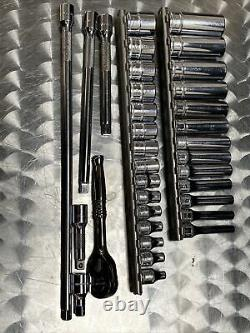 Snap-on Tools USA 34 Pc 1/4 Drive Metric 6 Point Shallow Deep Socket Set