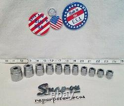 Snap-on USA 222SFFS SAE 22-pc. 3/8 Drive 6-Point Shallow & Deep Socket Sets