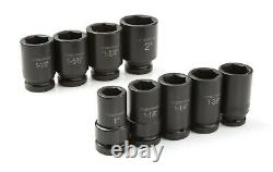 TEKTON 1 Inch Drive Deep 6-Point Impact Socket Set, 9-Piece (1-2 in.) 4892