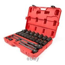 Tekton Impact Socket Set Drive 6-Point Deep High Torque Durable 22 Piece 3/4 in